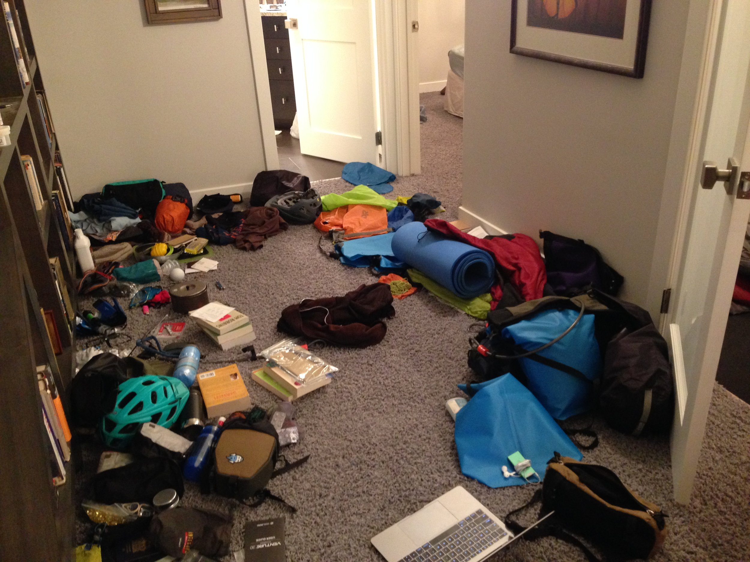 """Final days packing (more """"organized"""" than before)"""