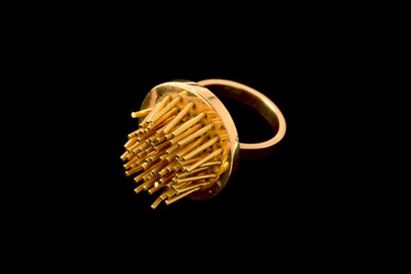 Pol Bury Kenetic Gold Ring