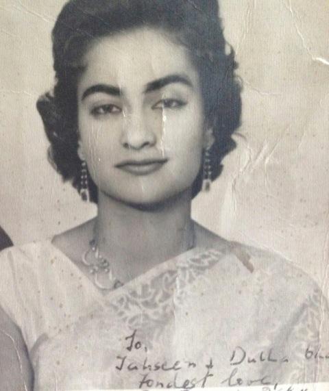 Akhtar, Mahnaz's mother, circa 1960s.