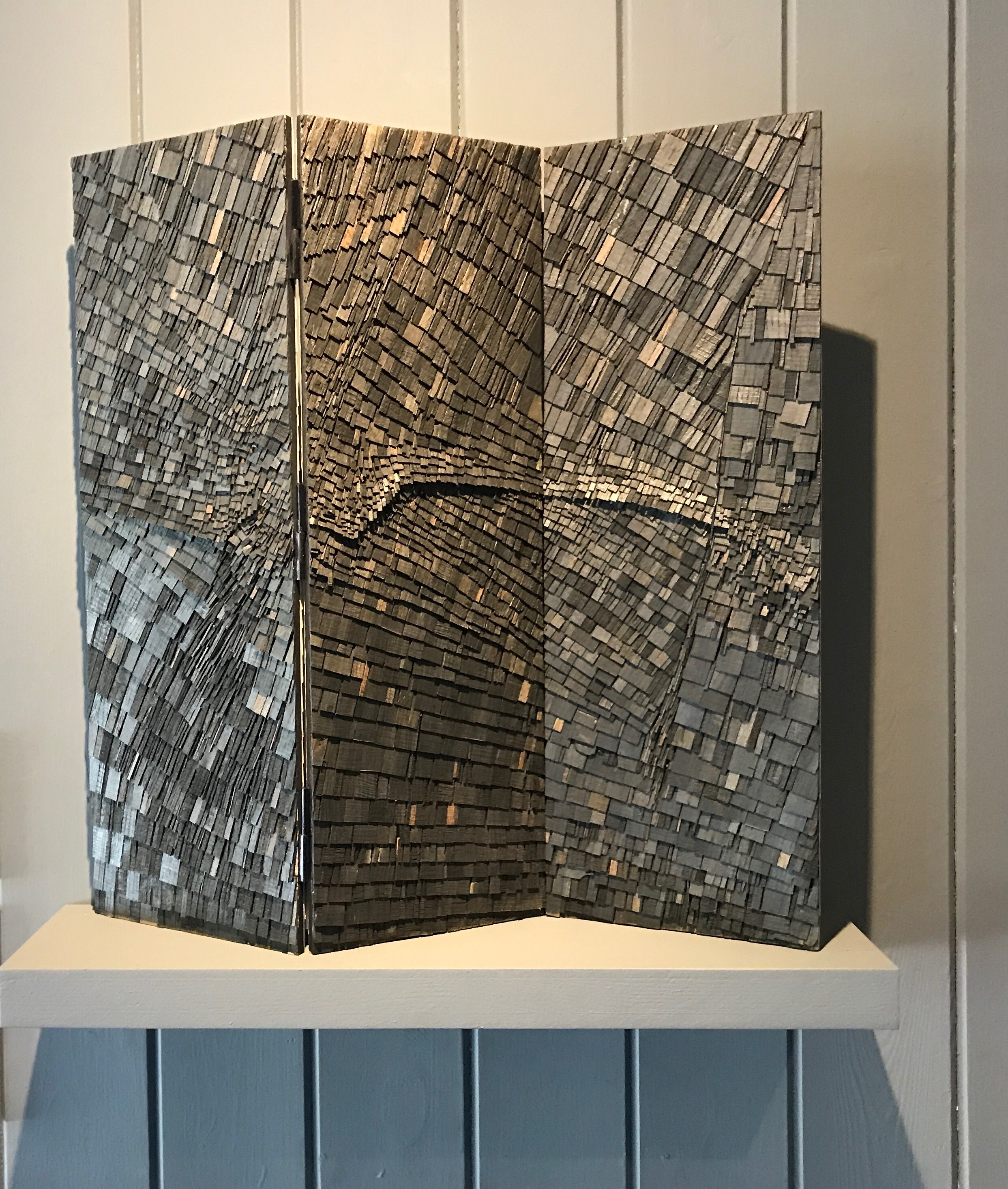 Wycliffe Stutchbury    Hundred Foot Drain, 2017    Excavated bog oak, Chatteris, Camridgeshire   'My compositions from fallen and forgotten timber are studies in the narrative beauty of wood'.   £2500.00 SOLD