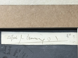 This is Munnings signature and his dating of the work on the reverse of the painting. 01 is the year - 1901 and the No. 3 denotes his third painting of the year.