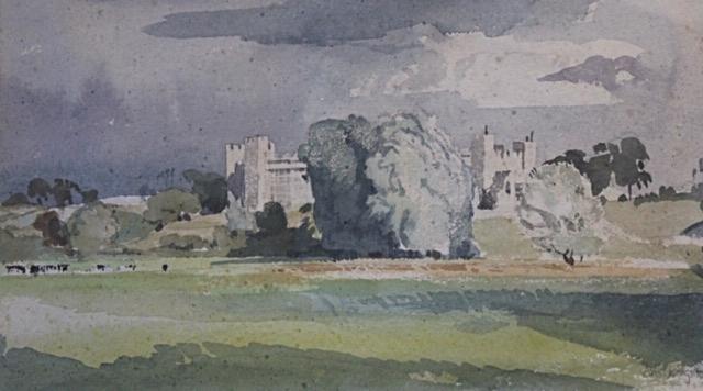 Charles Knight. Framlingham Castle, c.1930. Watercolour.