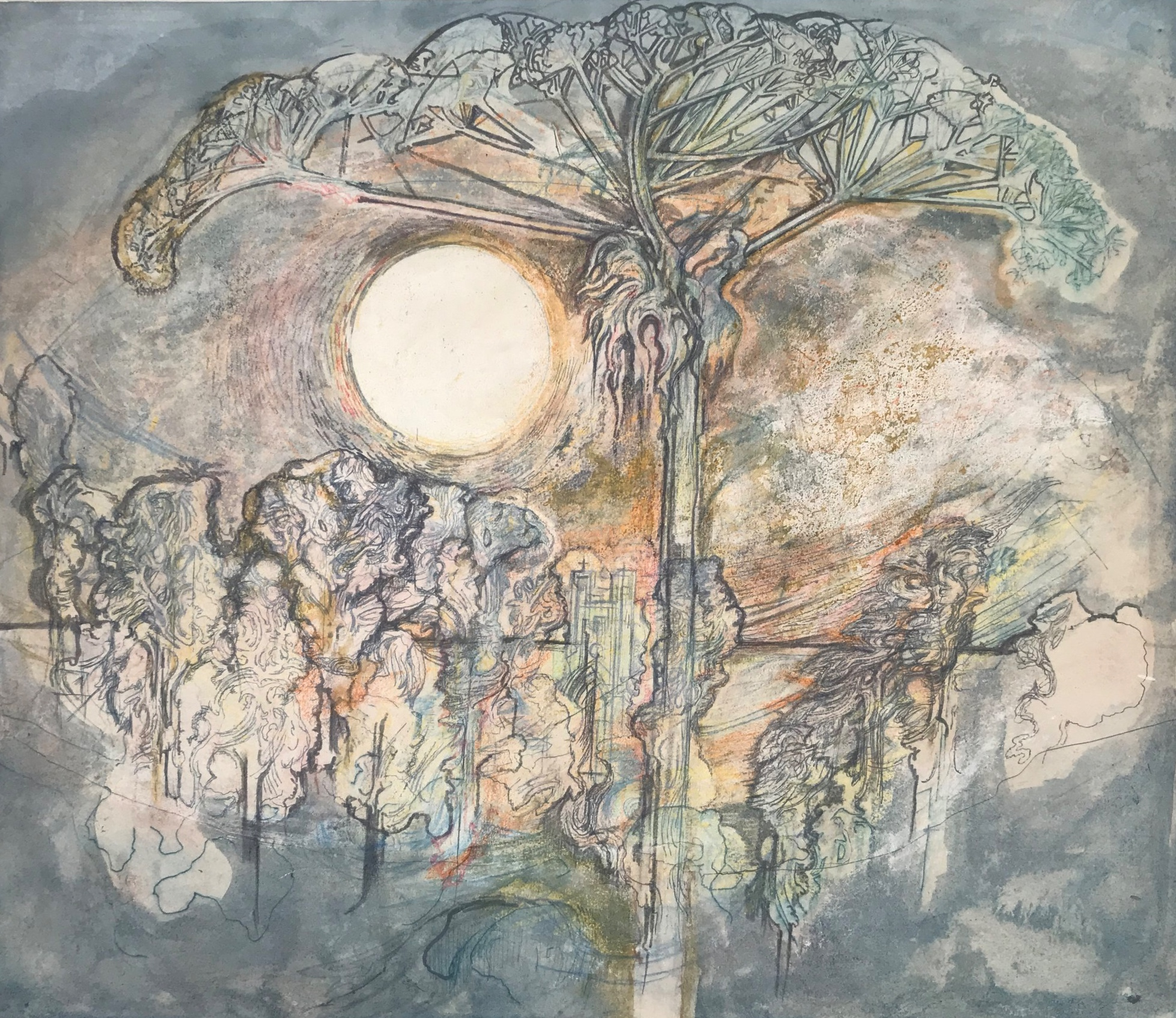 Leslie Hurry. Landscape,(Giant Hemlock), 1969.