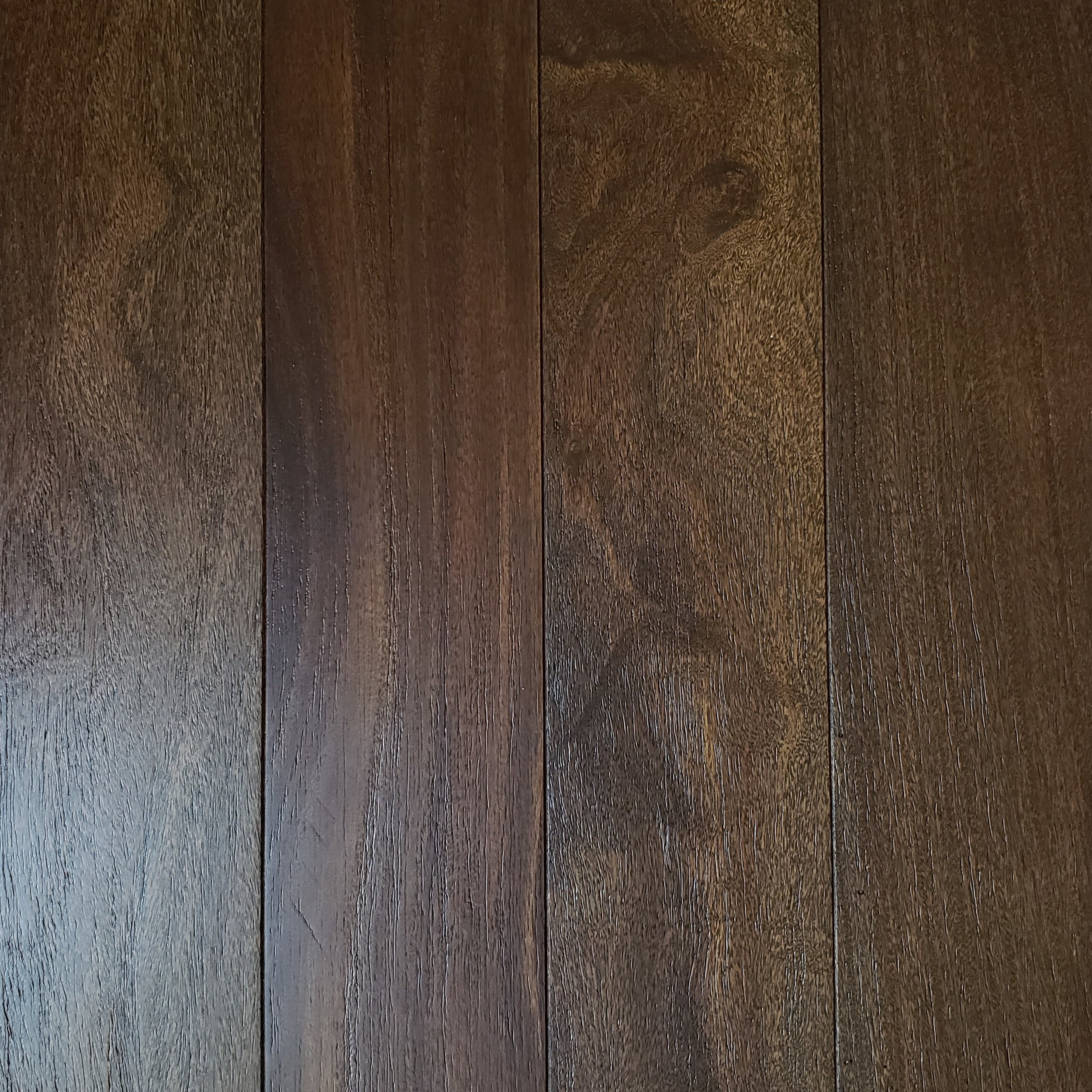 brazilian teak (Cumaru) wirebrushed - coffee
