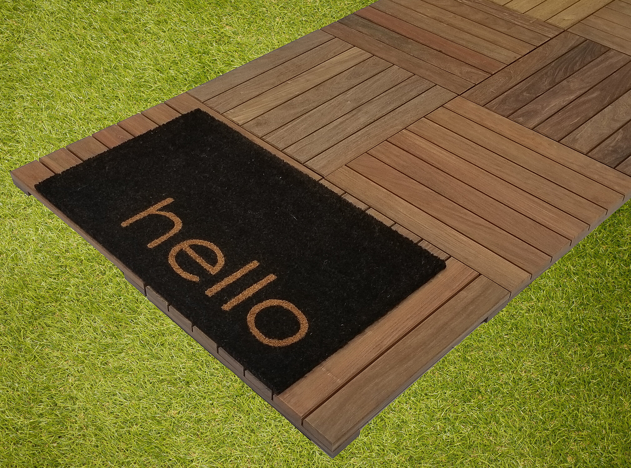 Where to Install Deck Tiles - Deck tiles can be easily installed over most flat surfaces or substructures. Lay deck tiles over exiting wood or brick deck, cover a concrete rooftop balcony, or place on top of gravel and grass.