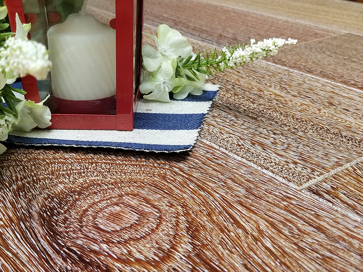 Better Appearance - Unlike some polyurethane finishes, aluminum oxide will not change the color of the wood because it dries clear. Aluminum oxide also enhances the floor's aesthetic by amplifying the wood's grain pattern and color. The sheen is available in glossy and matte, both easily adjustable.