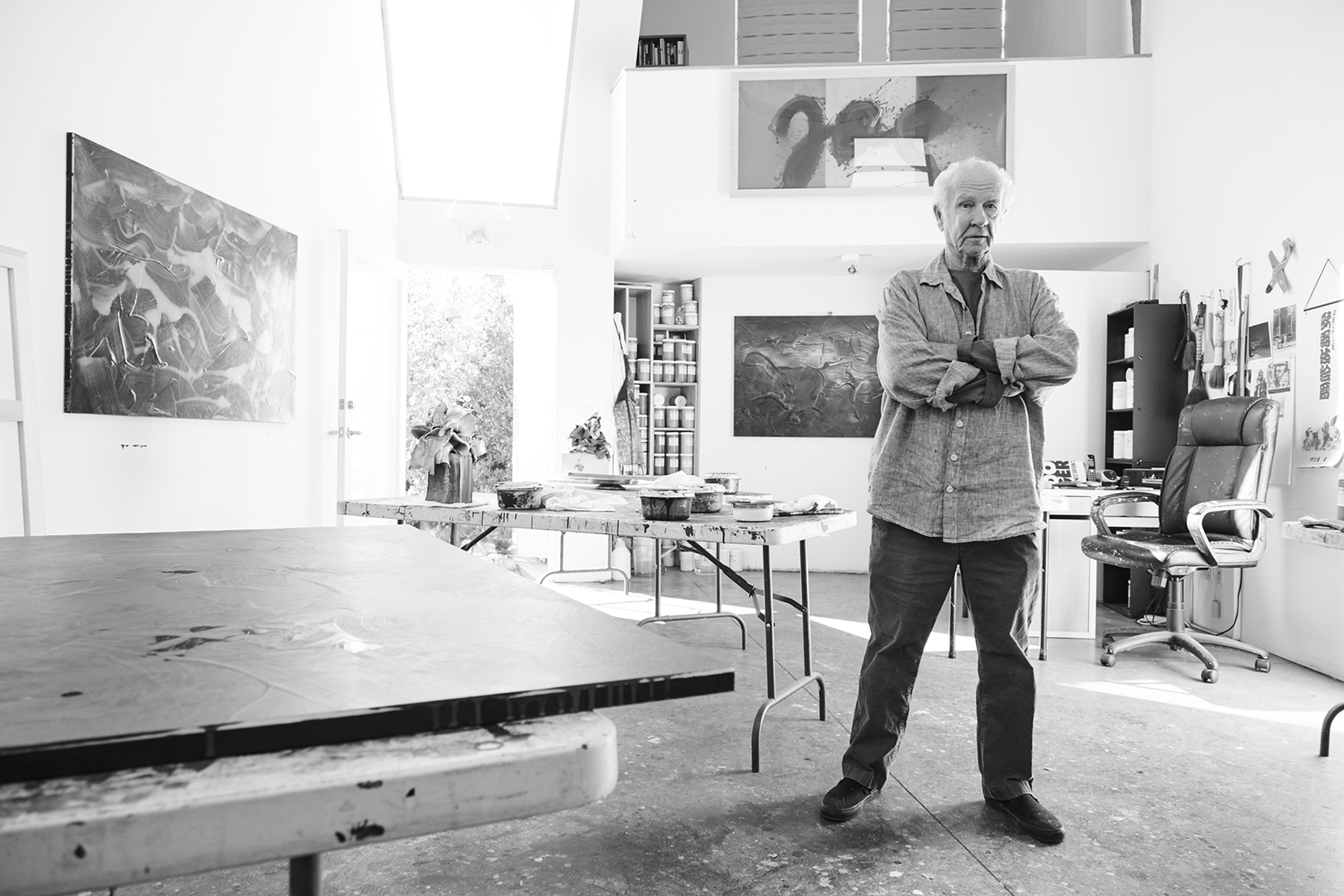 Joe in his painting studio