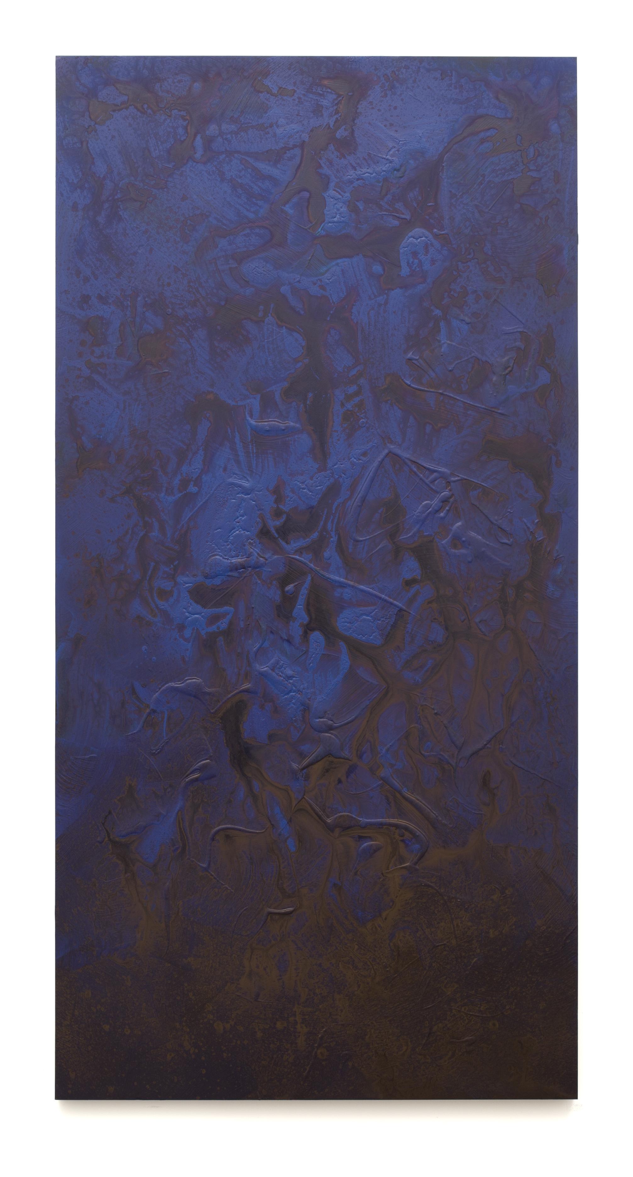 """Untitled (Can't Swim 01), 2017, Acrylic on archival foam board, 96"""" x 48"""""""