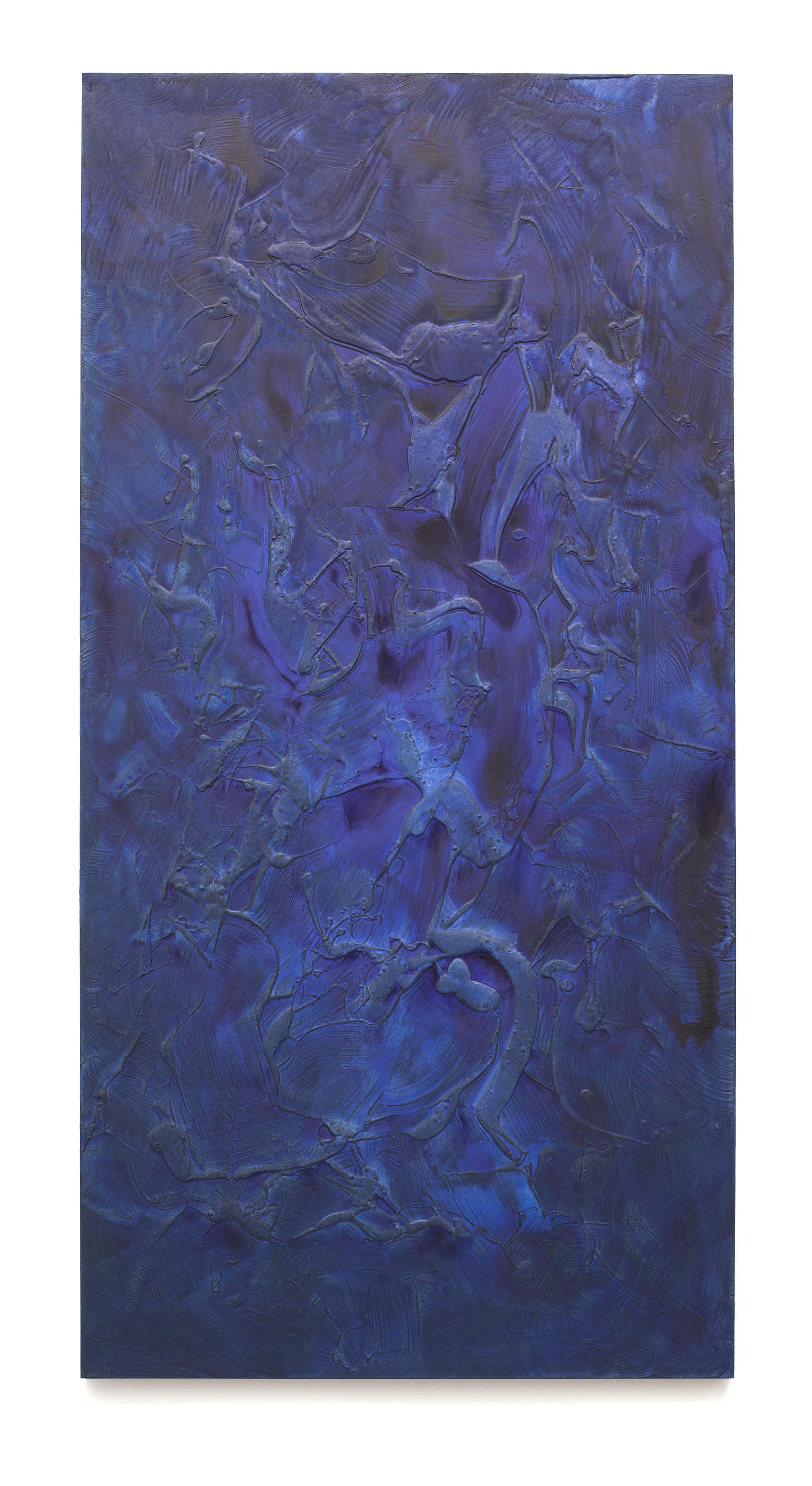 """Untitled (Can't Swim 03), 2018, Acrylic on archival foam board, 96"""" x 48"""""""