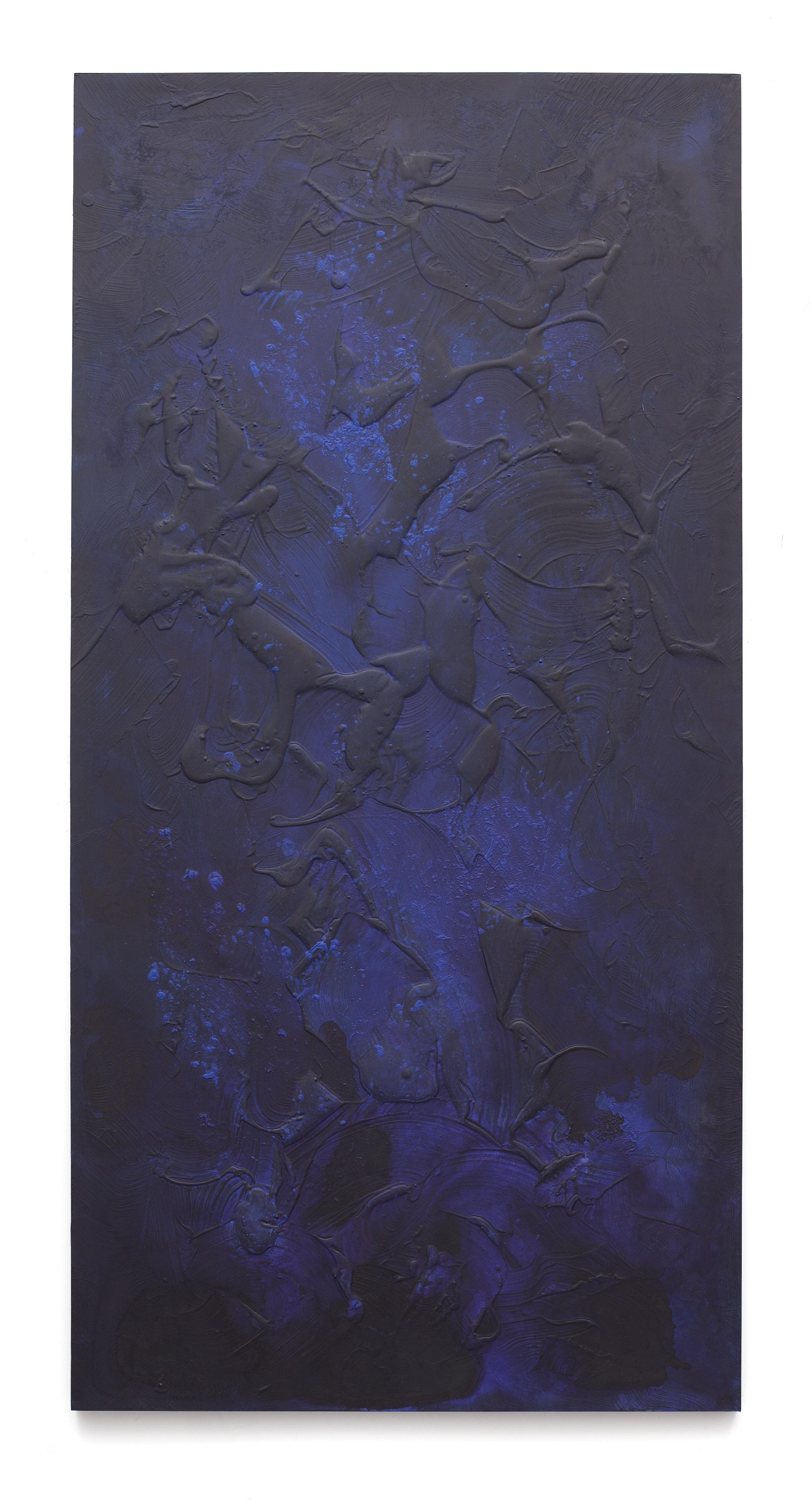 """Untitled (Can't Swim 04), 2018, Acrylic on archival foam board, 96"""" x 48"""""""