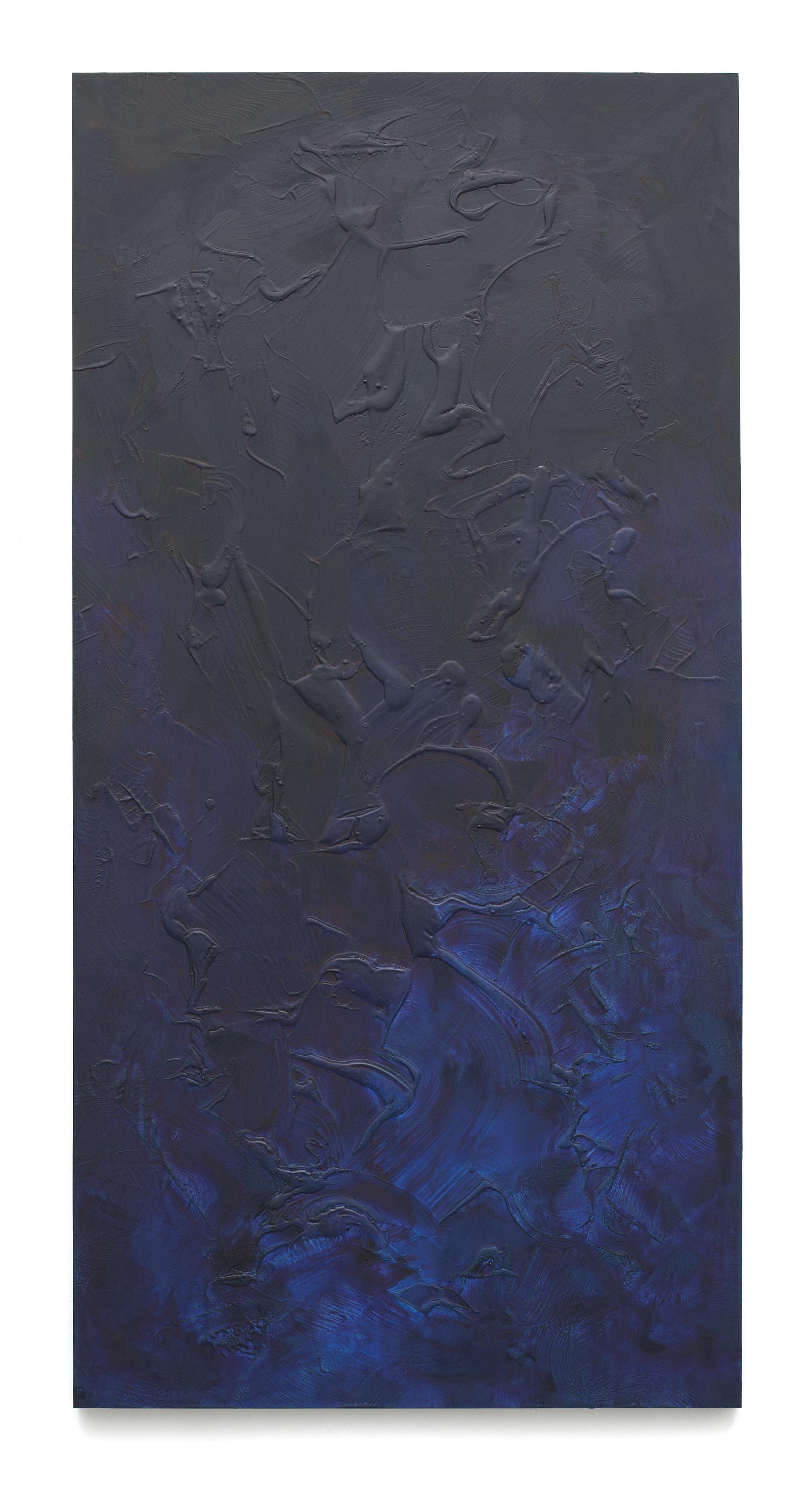 """Untitled (Can't Swim 05), 2018, Acrylic on archival foam board, 96"""" x 48"""""""