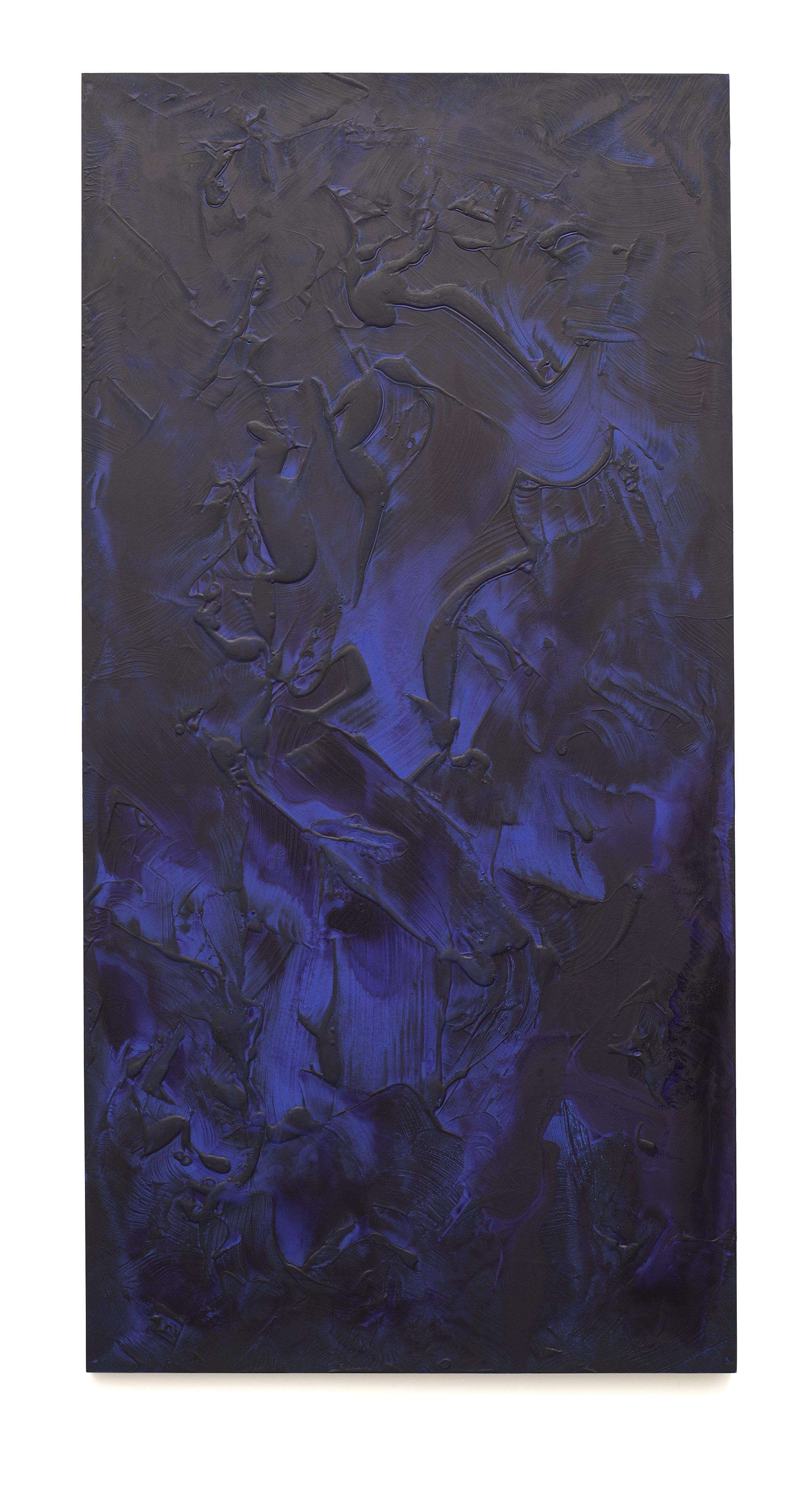 """Untitled (Can't Swim 07), 2018, Acrylic on archival foam board, 96"""" x 48"""""""