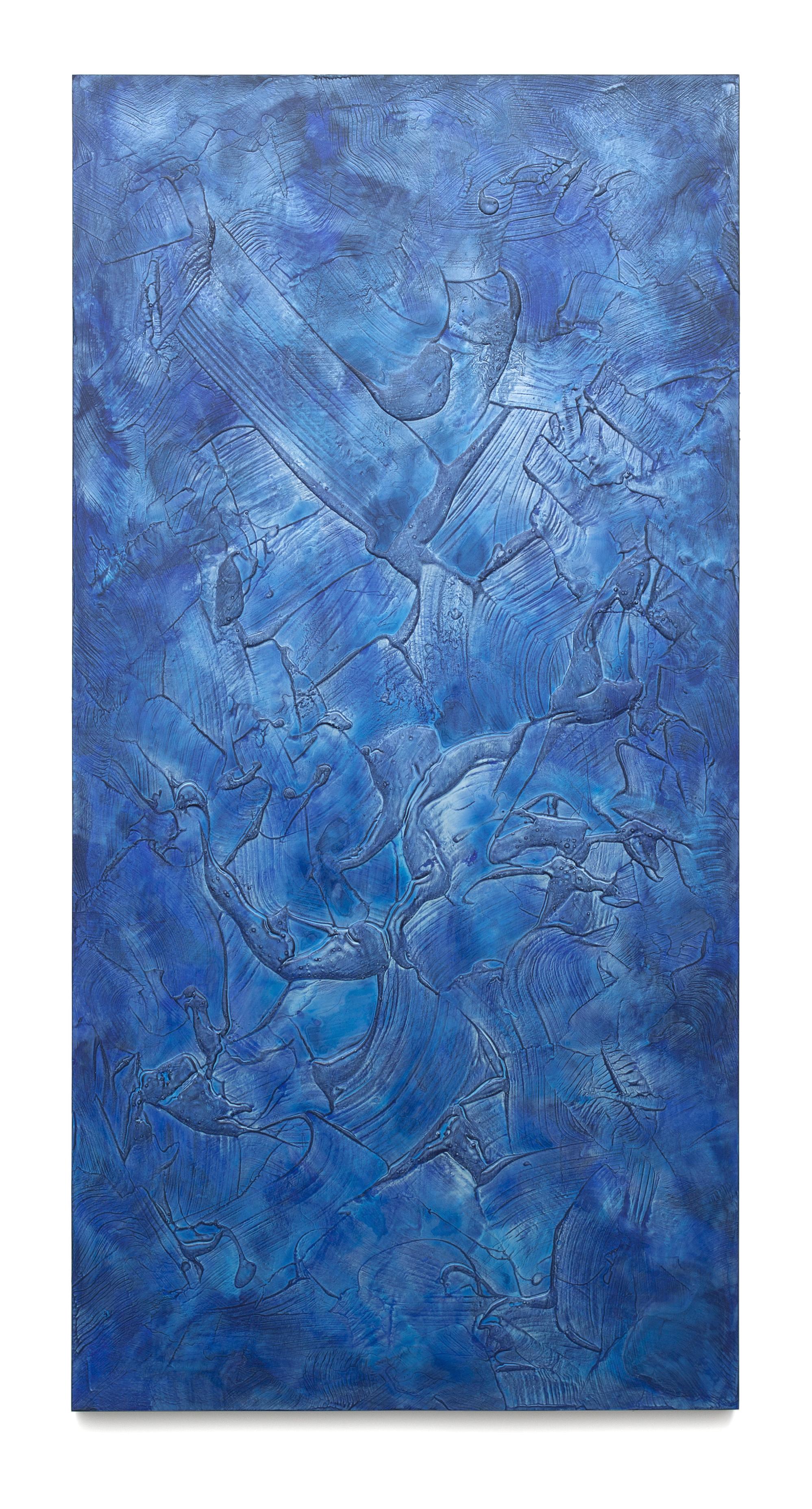 """Untitled (Can't Swim 08), 2018, Acrylic on archival foam board, 96"""" x 48"""""""