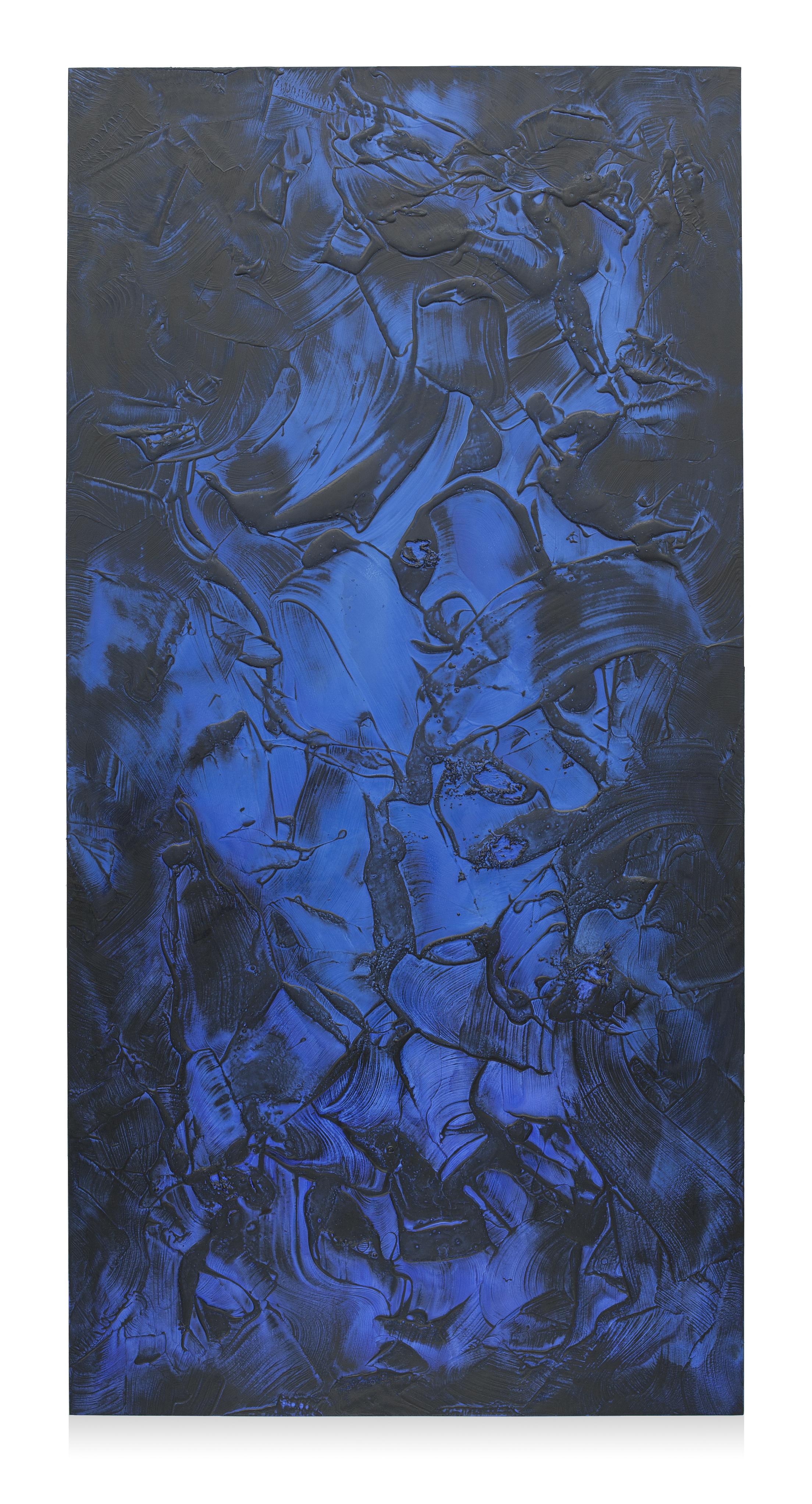 """Untitled (Can't Swim 11), 2018, Acrylic on archival foam board, 96"""" x 48"""""""