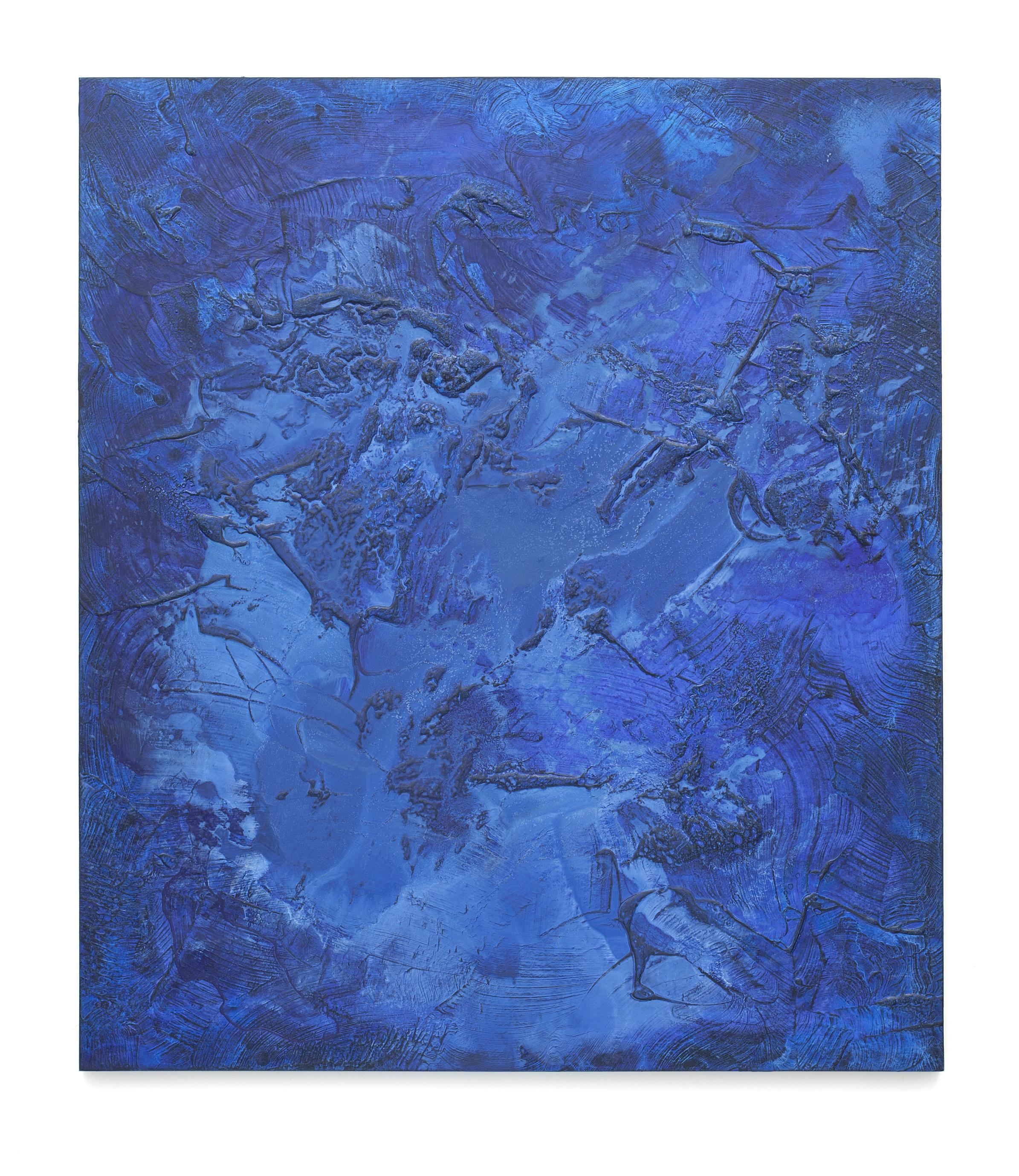 """Untitled (Can't Swim 19), 2018 - 19, Acrylic on archival foam board, 46 1/8"""" x 40 1/8"""""""
