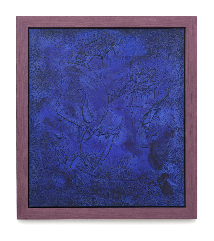 """Untitled (Can't Swim 21), 2019, Acrylic on archival foam board, 40"""" x 35"""""""