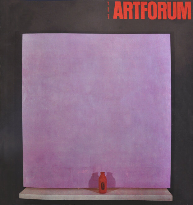 Joe Goode's cover of ArtForum Magazine (November 1962)
