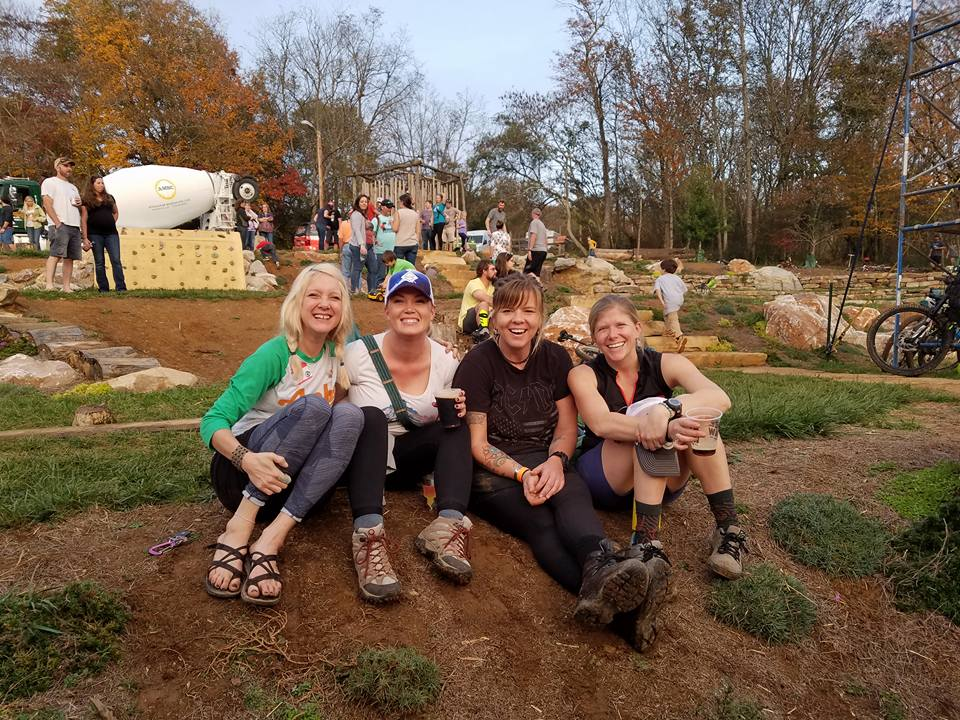 Tracy, me, Becca, and Sarah at the 2017 AMBC Fall Fest. Dirty, happy, and maybe a little drunk…