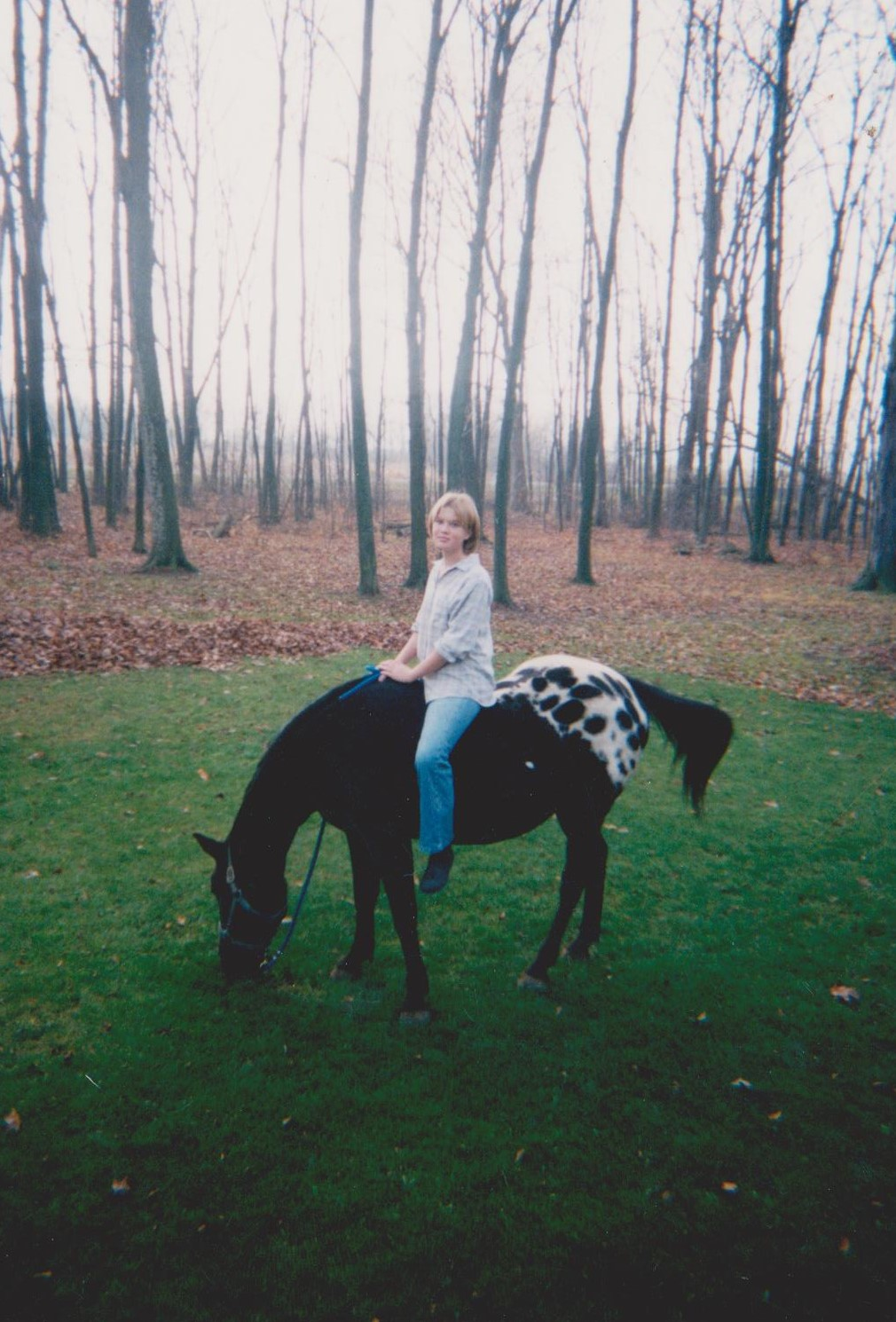 Bareback and carefree, age 13
