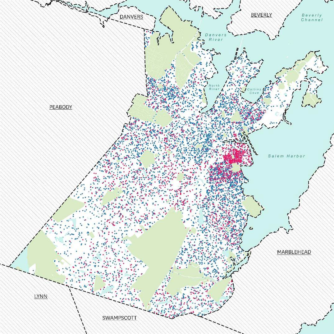 Source: American Community Survey, 5-year estimates, 2010-2014. Points are randomly placed within Census Block Groups