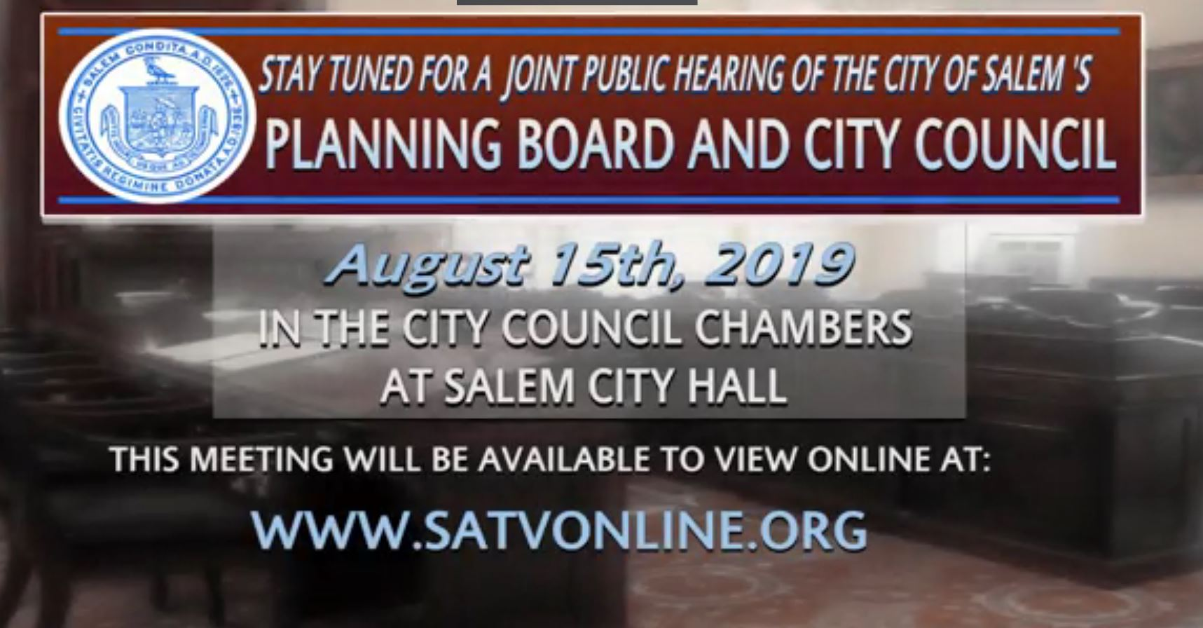 SATV Recording of August 15 Joint Public Hearing