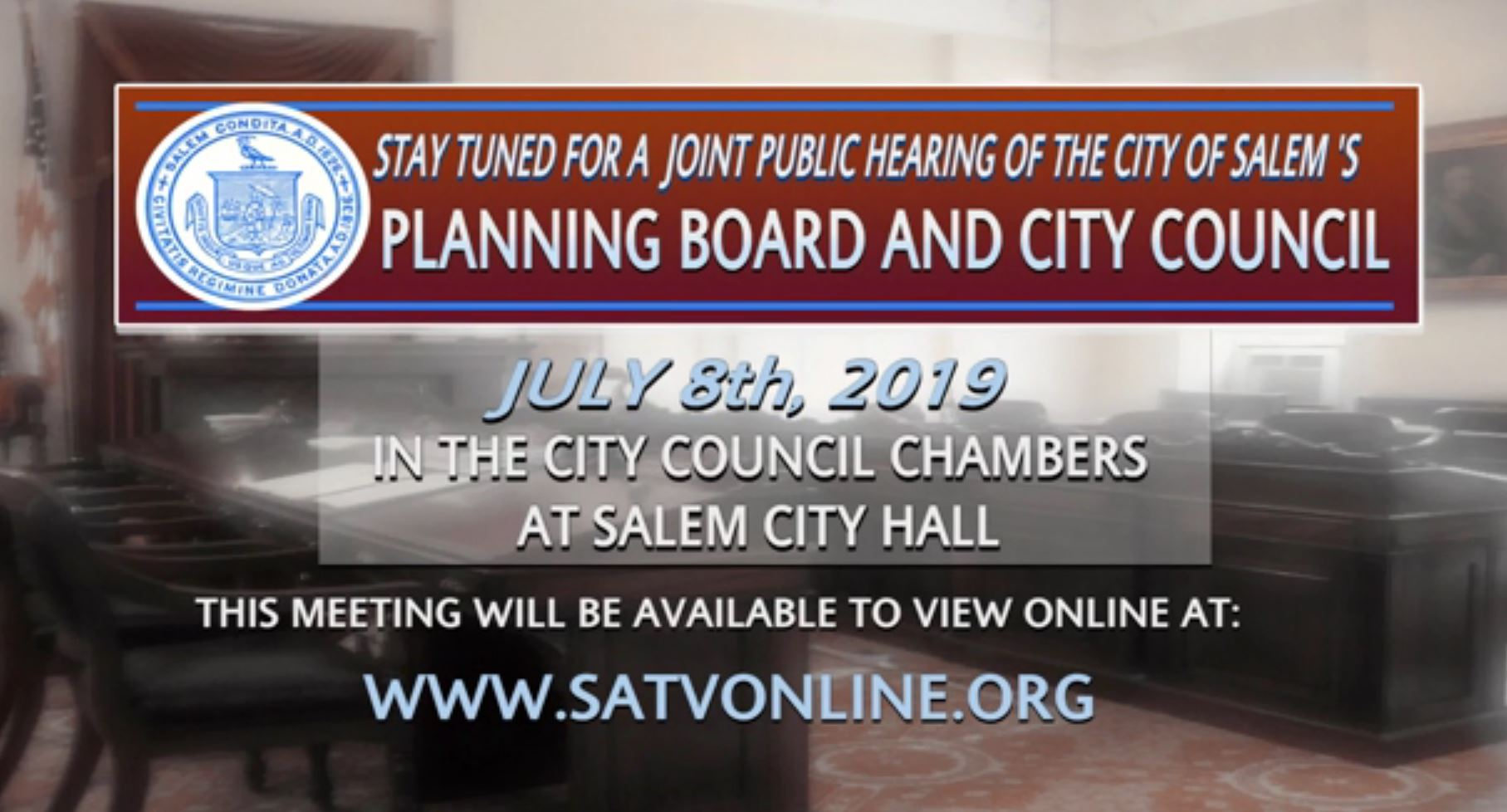 SATV Recording of July 8 Joint Public Hearing