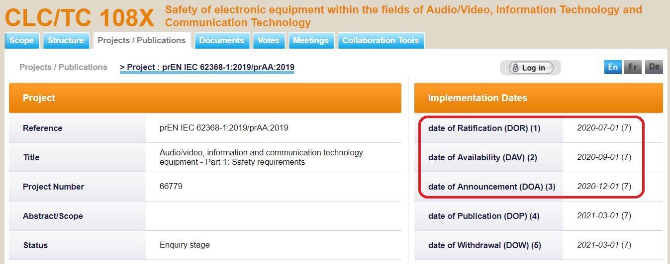 ILL. 1 CENELEC TC108X EN62368-1 3rd. Edtion DOR/DAV/DOA Note 1