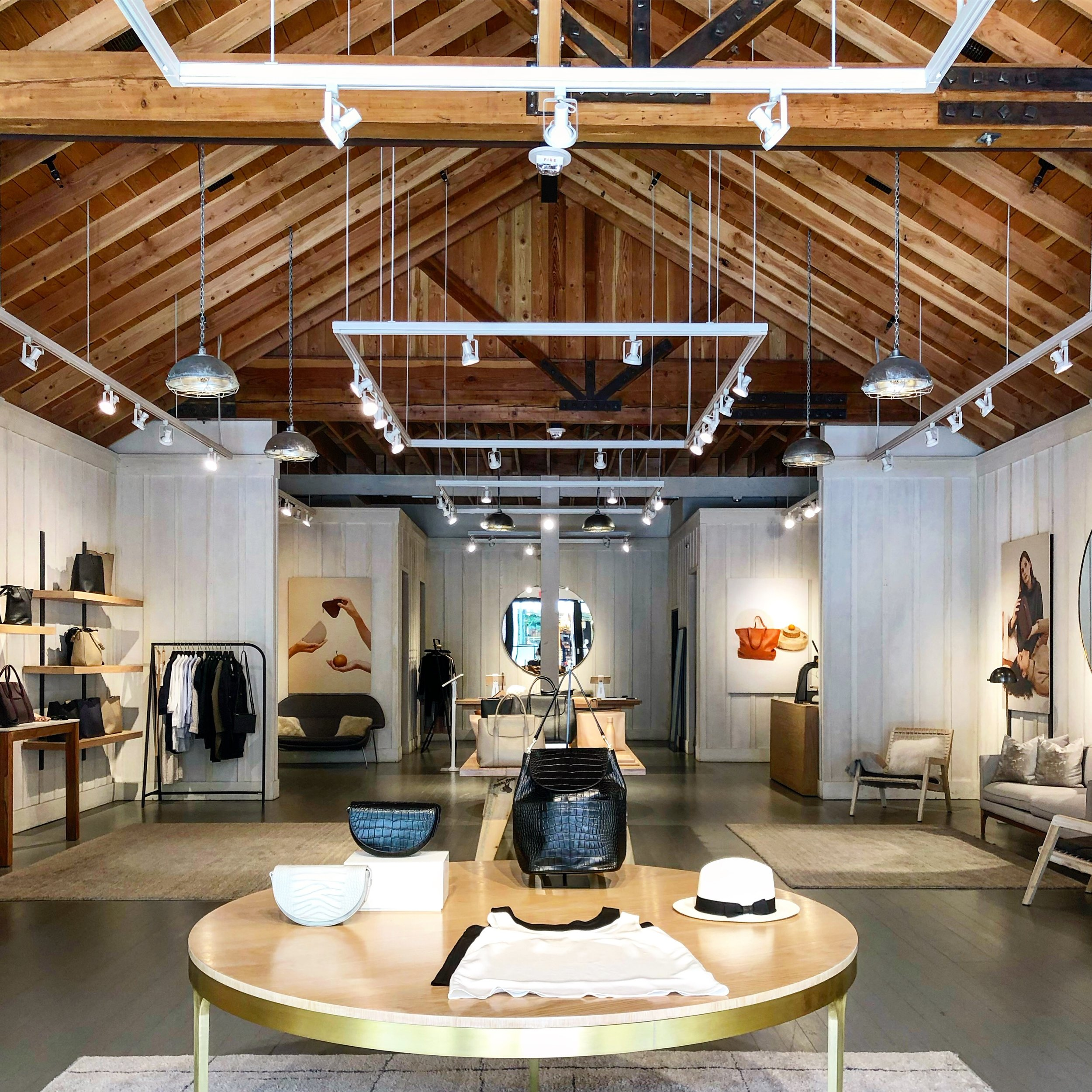 Cuyana's pop-up store in Palo Alto, Calif.