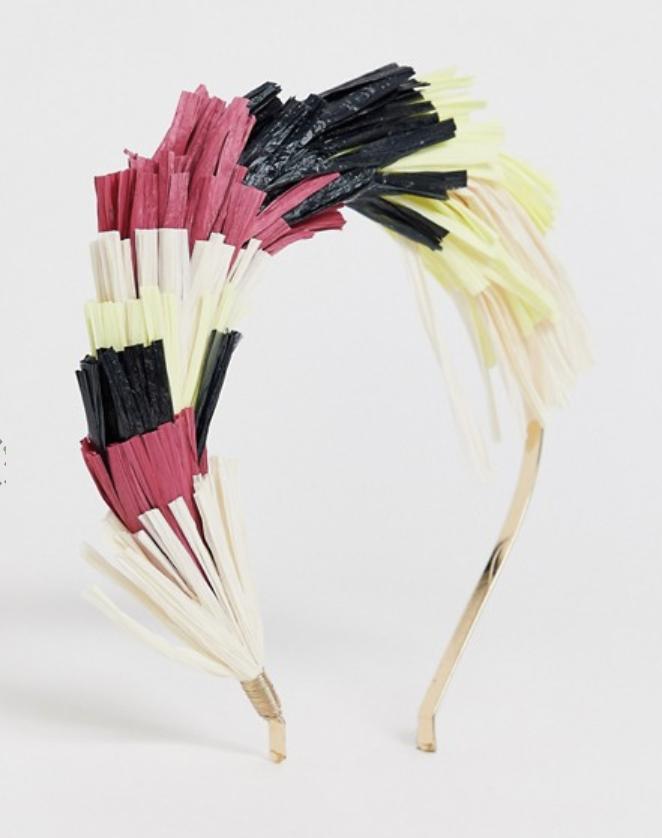 ASOS Faux Rafia Fan Headband ($16)
