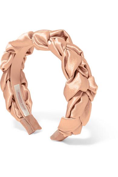 Jennifer Behr Braided Silk-Satin Headband ($298)