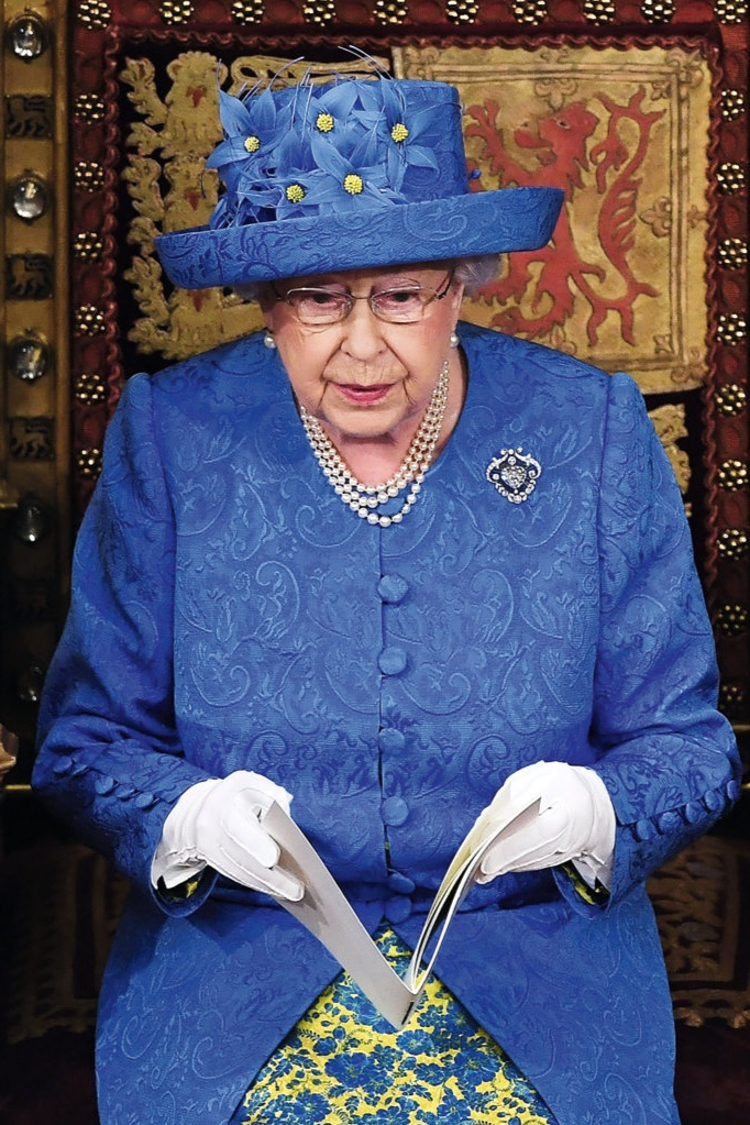 The Queen at the opening of parliament in June 2017.