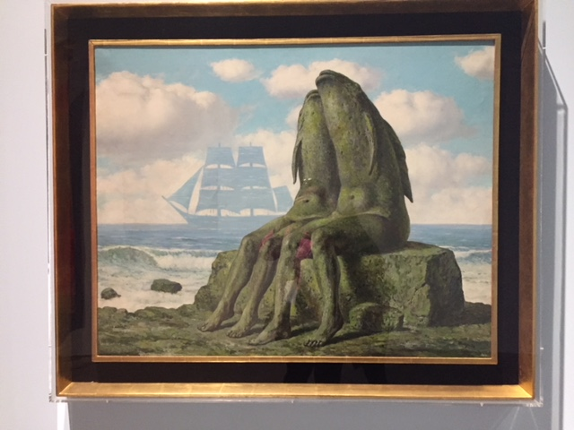 Les merveilles de la nature,  Rene Magritte, 1953. I always love trying to interpret Magritte's work! Fish-human hybrids made of stone. What is he trying to tell us?!