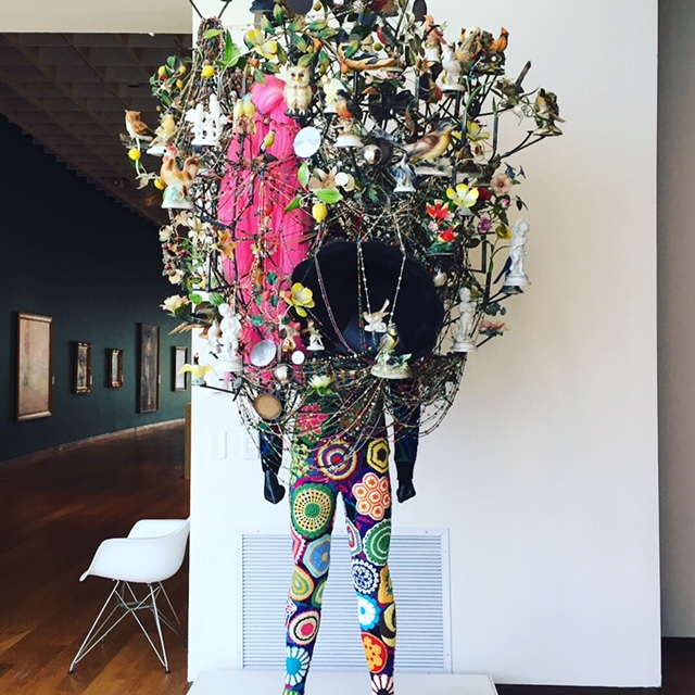 Nick Cave  Soundsuit , 2011. I love anything that makes me think of Alice in Wonderland and/or the Mad Hatter and his tea party.Good times!