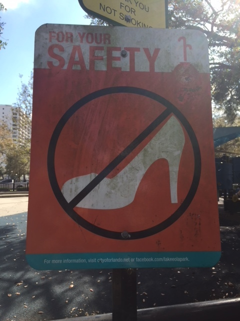 Don't be out here strolling in high heels, y'all.