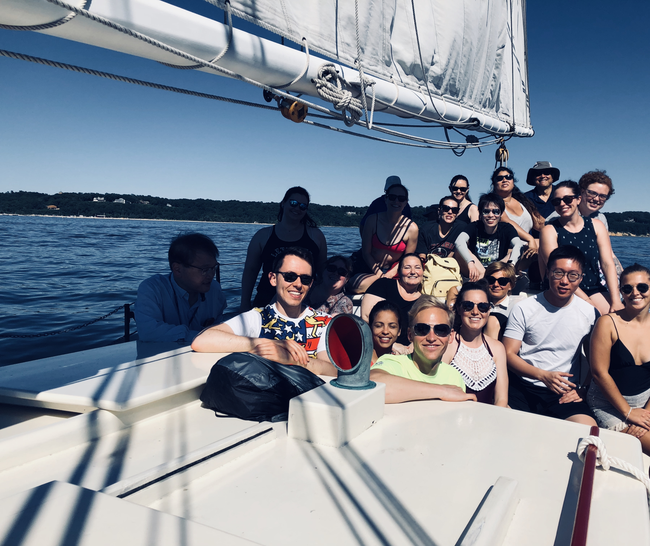 Taking a break from the course with a sail trip around the Bay.
