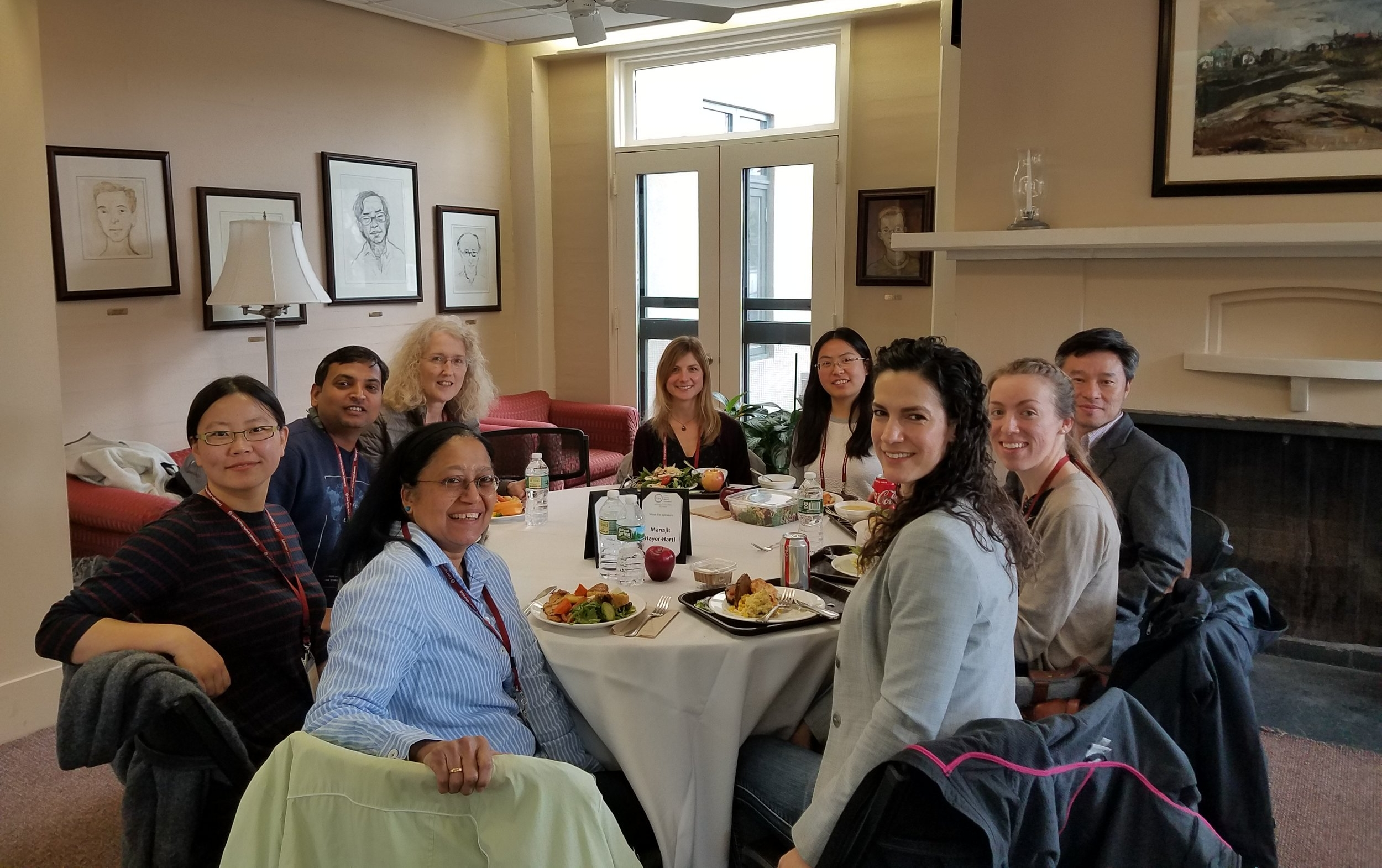 Meet the Speakers luncheon during the Protein Homeostasis in Health & Disease meeting in 2018.