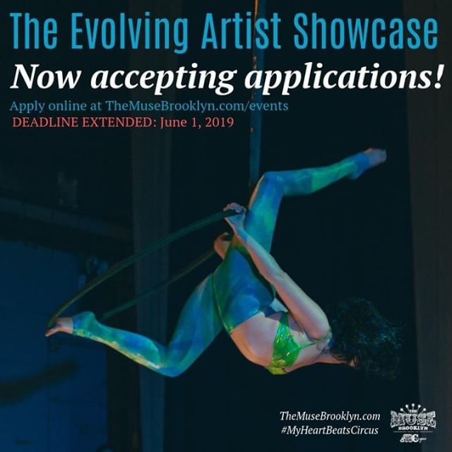 ✨ THIS JUST IN✨⠀ ⠀ We've extended the deadline for Evolving Artist Applications! You now have until Saturday, June 1st to apply to perform in the showcase. Is there a story you've been dying to tell? Eager to try out some new ideas in front of an audience, or just get some feedback on something you're thhiiiiissss close on? The Evolving Artist Showcase is the perfect platform to do it all!⠀ ⠀ Application link and spectator ticket link in our bio. Whichever path you choose, go go go! 🏃🏼‍♂️💨 ⠀ #MyHeartBeatsCircus #MuseItOrLoseIt #Showcase #StudentShowcase #Performer #CircusPerformer #MemorialDayWeekend ⠀ ⠀