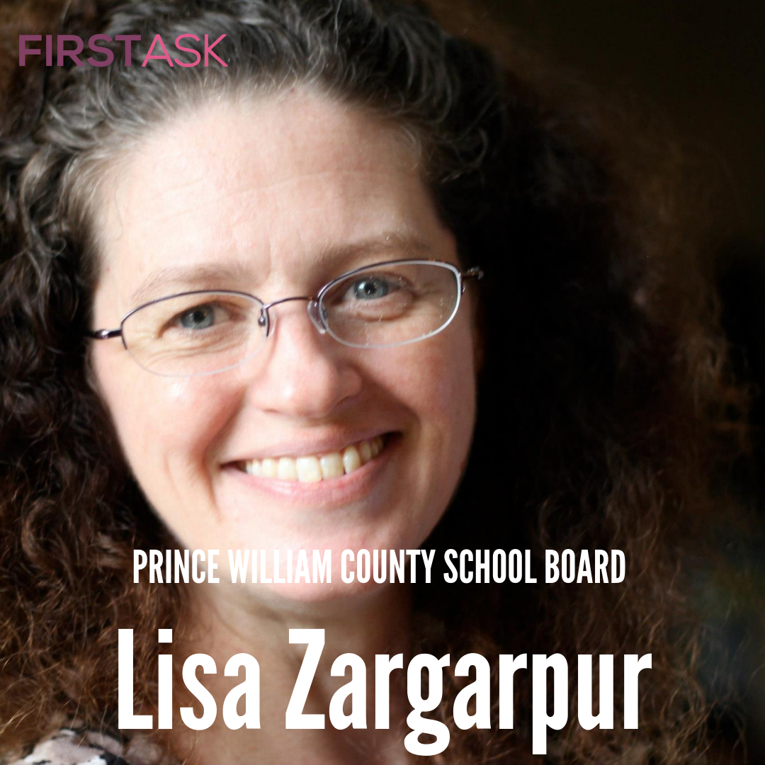 Lisa Zargarpur-  Candidate for Prince William County School Board   Educational and professional background:  I hold degrees in Music (flute performance), a Master of Arts, and a Master's in Education. I am certified K-12 and teach general music K-6. I'm a member of the Fairfax Education Association (VEA/NEA), I am Equity Lead at my school.   Top campaign issues:   Student Success  School safety  Manageable class sizes  Teacher retention   Fun Fact:  I also teach fitness classes: Spin, yoga, barbells!   Website