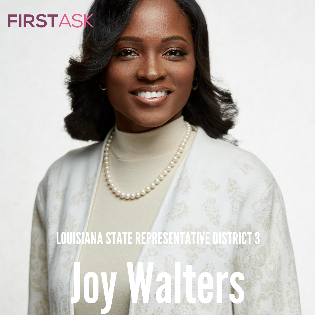 Daryl Joy Walters-  Candidate for Louisiana House of Representatives District 3   Educational and professional background:  I hold a Bachelor of Arts degree in Religion and Philosophy from Wiley College in Marshall, Texas, Post Master of Divinity from Princeton Theological Seminary in Princeton, NJ and a specialized certificate from Yale University's Women's Campaign School.   Top campaign issues:  Accessible Health Care for all, Expanding Universal Pre-K throughout Louisiana, Raising the minimum wage to a living wage.   Fun Fact:  I love riding horses.   Website
