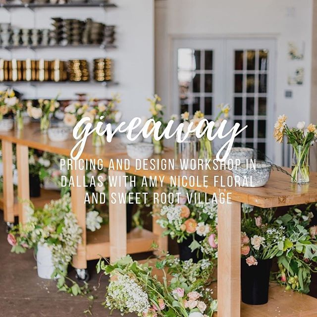 The wonderful ladies @sweetrootvillage and @amynicolefloral are doing a giveaway! To any of my flower friends, you need to check these people out. They're amazing! I want to attend the #designandpricingworkshop because I always want to enhance my skills both as a designer and a business owner! I want my brides and grooms to receive the most advanced and up to date floral knowledge in the market and being a new business, this is the most ideal way for me to do that. I love you ladies!!! Repost: Thanks to a generous donor, we are offering a FULL scholarship GIVEAWAY seat to our Dallas, Texas, Pricing and Design Workshop March 3-5th! (Valued at ($3,495.00)  During this 3 day half business/half design workshop you will gain confidence to run a PROFITABLE business and REAL design techniques to create loose and airy floral designs. (And SO much more)  During this HANDS ON workshop, you will learn: *Our Care and Handling Best Practices *Amy's approach to color theory and principles of design. *Loose and Airy Bridal Bouquets *Artful Centerpieces with Foam Free Mechanics *Large Scale Installation Techniques *Honest and Useful 1:1 Feedback and Critiques  For your Business, we will cover: *Staffing for Success *Pricing for Profit *Ordering and Recipe Writing *Managing and Hiring Strategies *Scaling Your Business *Website Reviews and Social Media Best Practices  HOW TO ENTER:  1) Follow @amynicolefloral and @sweetrootvillage if you aren't already! 2) Repost any GIVEAWAY photo above on your main IG feed. Please tag BOTH @sweetrootvillage and @amynicolefloral so we can include your entry! In your caption, share WHY you want to attend our hands on workshop and use the hashtag #designandpricingworkshop 3) That's it!  BONUS  1) You can receive an extra entry for each flower friend you tag in the comments of this post. 2) You can also receive an extra entry for doing an IG story! You must tag both @sweetrootvillage and @amynicolefloral in each story so we can track your submission!  