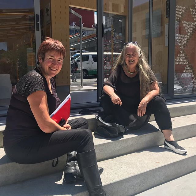 @fortheloveofbeesnz wants to start 2019 by thanking this inspired enabler who has been responsible for birthing so many incredible #lifeaffirming #joycreating projects in Aucklands CBD over the past 2 years. Barbara Hollaway and her team at @activateauckland are making a real and material difference in our city. Here she is sitting with another Auckland Council #ftlob collaborator Lucy Piedmont from the #lowcarbonteam called #livelightly . We are taking a wee rest now before we gear up to spend 2019 working with other inspired cool change makers to help our city become #climatechangeready using bees as an indicator of ecosystem wellbeing. #thankstoeveryoneonthisregenerativejourney #urbanrenewal #urbanrenewal #citysafeforbiologicalsystems #citybeecollaboration #citysafeforbees @aklcouncil