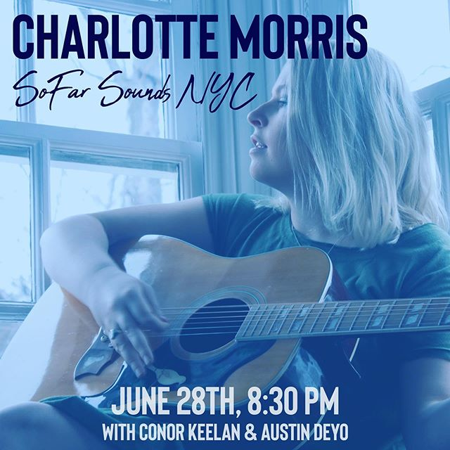 This Friday. A secret location. An intimate concert. 3 different musical acts (one of them being me, with my amazing band Conor Keelan & @afdeyo 😚). Come on out to @sofarnyc ! . . . 📸: @taylor_naturally #charlottemorris #sofarsounds #sofarnyc #thisweekend #thisfriday #nycconcert #hometownshow #music #indiemusic #intimateconcerts #secretlocation #indieartist #indiepop #indiefolk #popfolk #singersongwriter #songwritersofig #nycmusic #nycartist #nycsinger #acousticmusic #summersongs #independentartist #newyorkcity #thingstodoinnyc #summerconcerts #guitarist #yougotmyheart #freedom #comingsoon