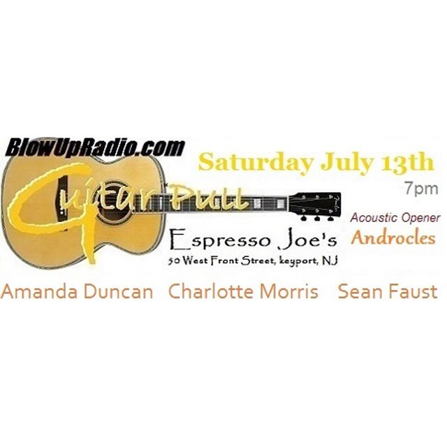 New Jersey! I'm coming your way THIS SATURDAY for an evening of original music with @amandaduncan and @seanfaustmusic. Don't miss the new music I'll be premiering at the Guitar Pull! . . . #charlottemorris #blowupradio #guitarpull #newmusic #thissaturday #newjersey #keyport #thisweekend #music #indiemusic #acousticmusic #indiepop #indiefolk #popfolk #singersongwriter #songwritersofig #nyc #nycartist #nycsinger #nycmusician #upcomingshows #espressojoes #giglife #musicianlife #premiere #newsongs #freedom #yougotmyheart #shine #dontmissthis