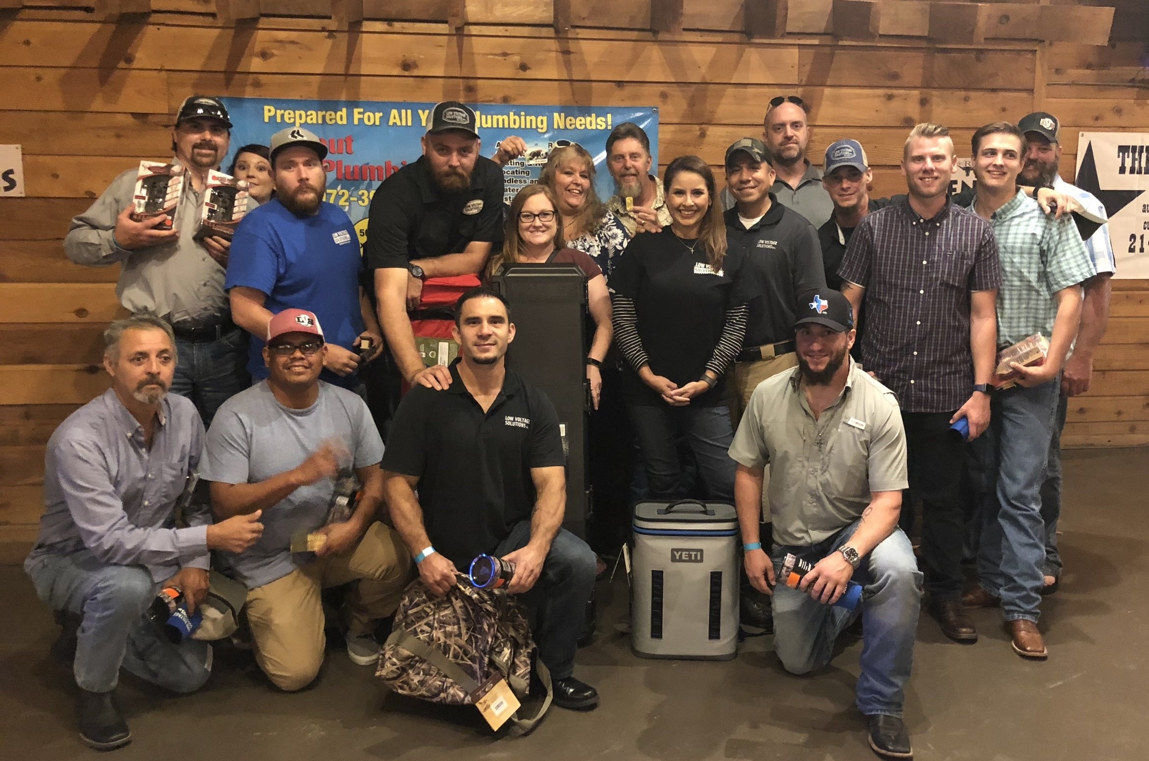 Low Voltage Solutions employees participating in a Ducks Unlimited fundraiser.
