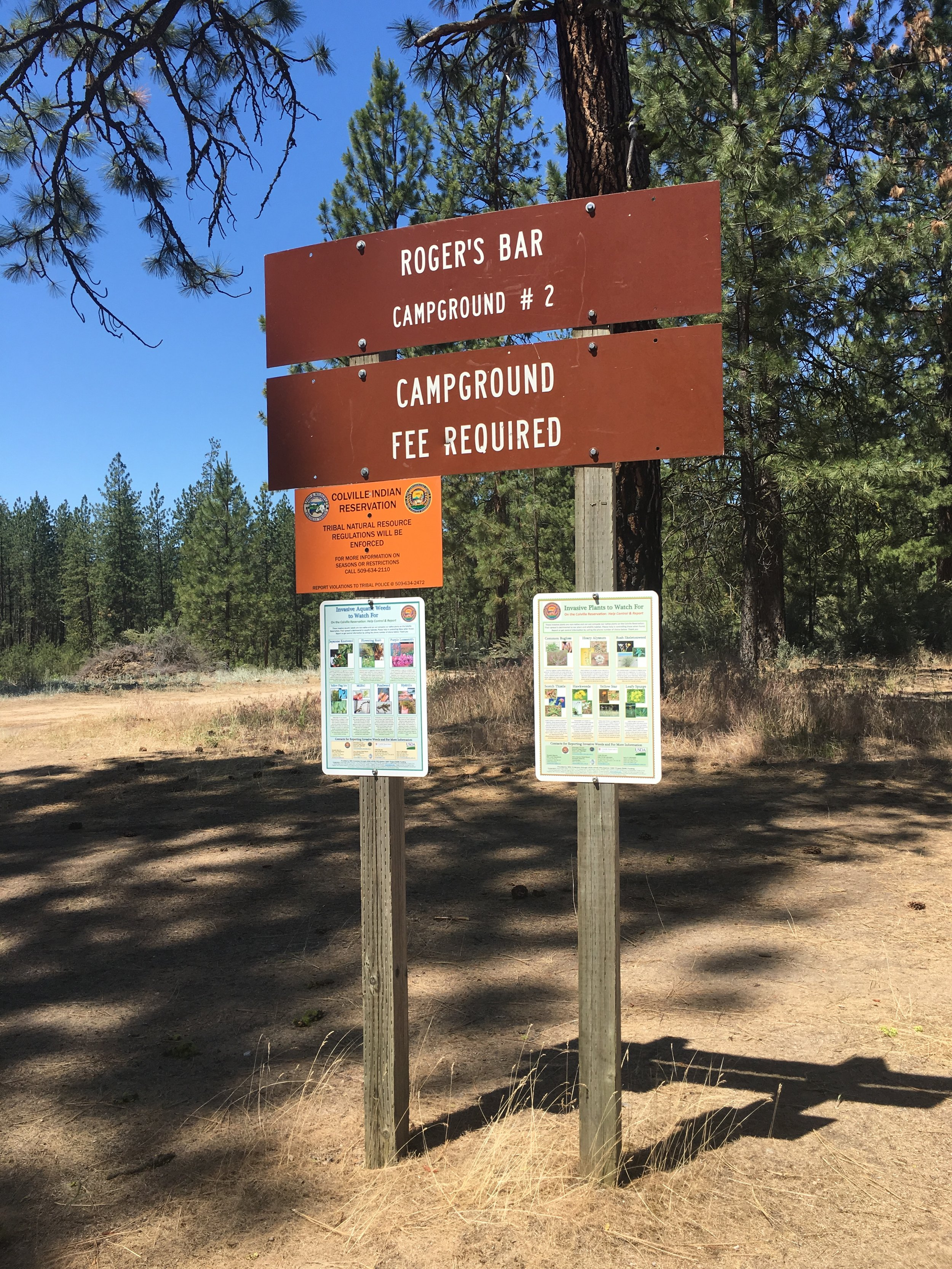 The program along with a grant from WSU installed invasive plant species awareness signage at public areas across the Reservation.