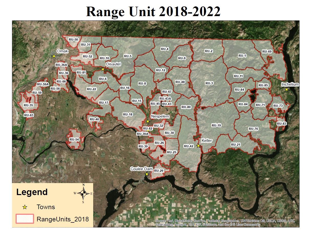 Range Unit Map Shaded