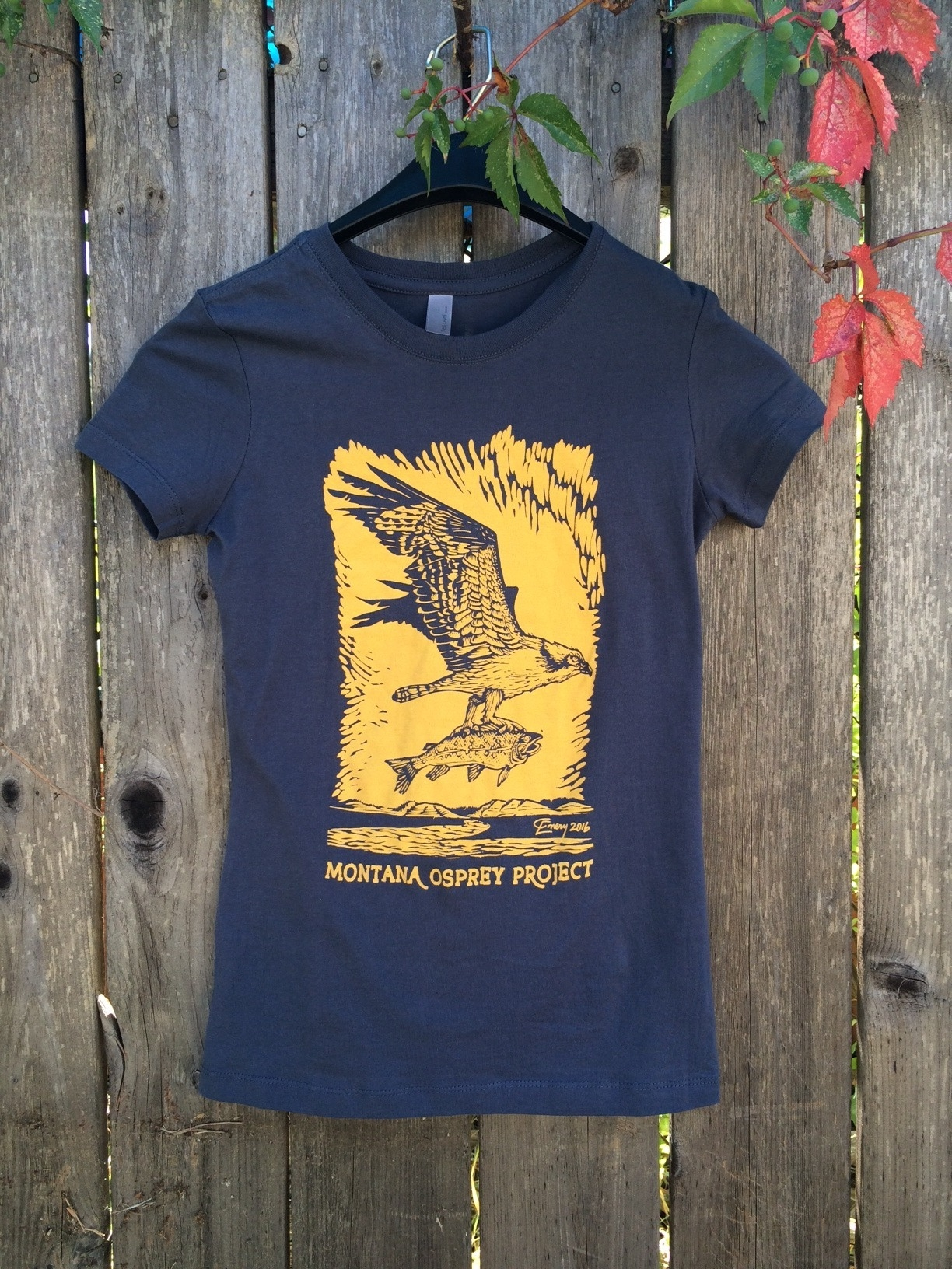Just one of the many wonderful shirts that helps raise osprey conservation funds this year!