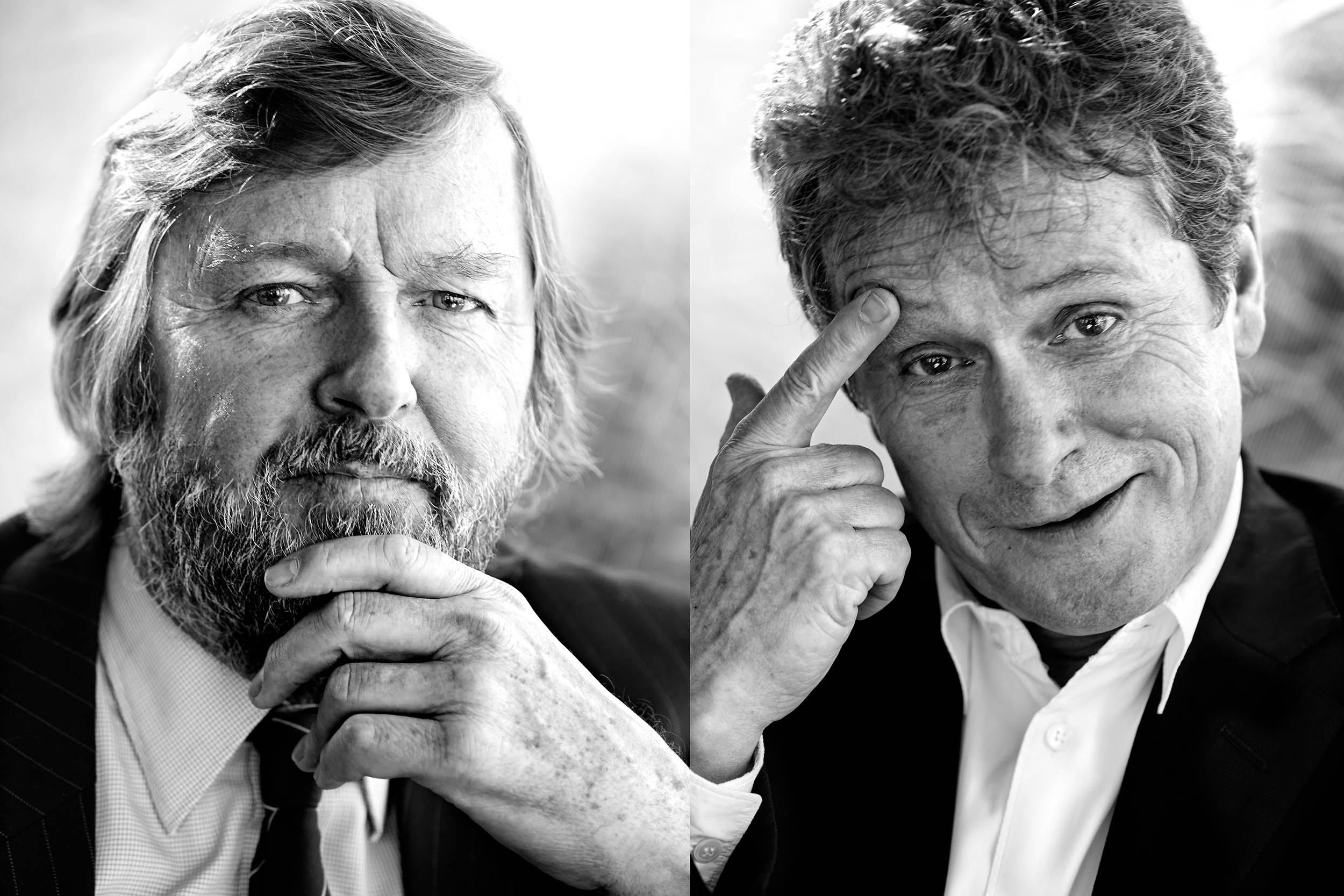 Heinz Neumann (li), Laurids Ortner (re), Architekten