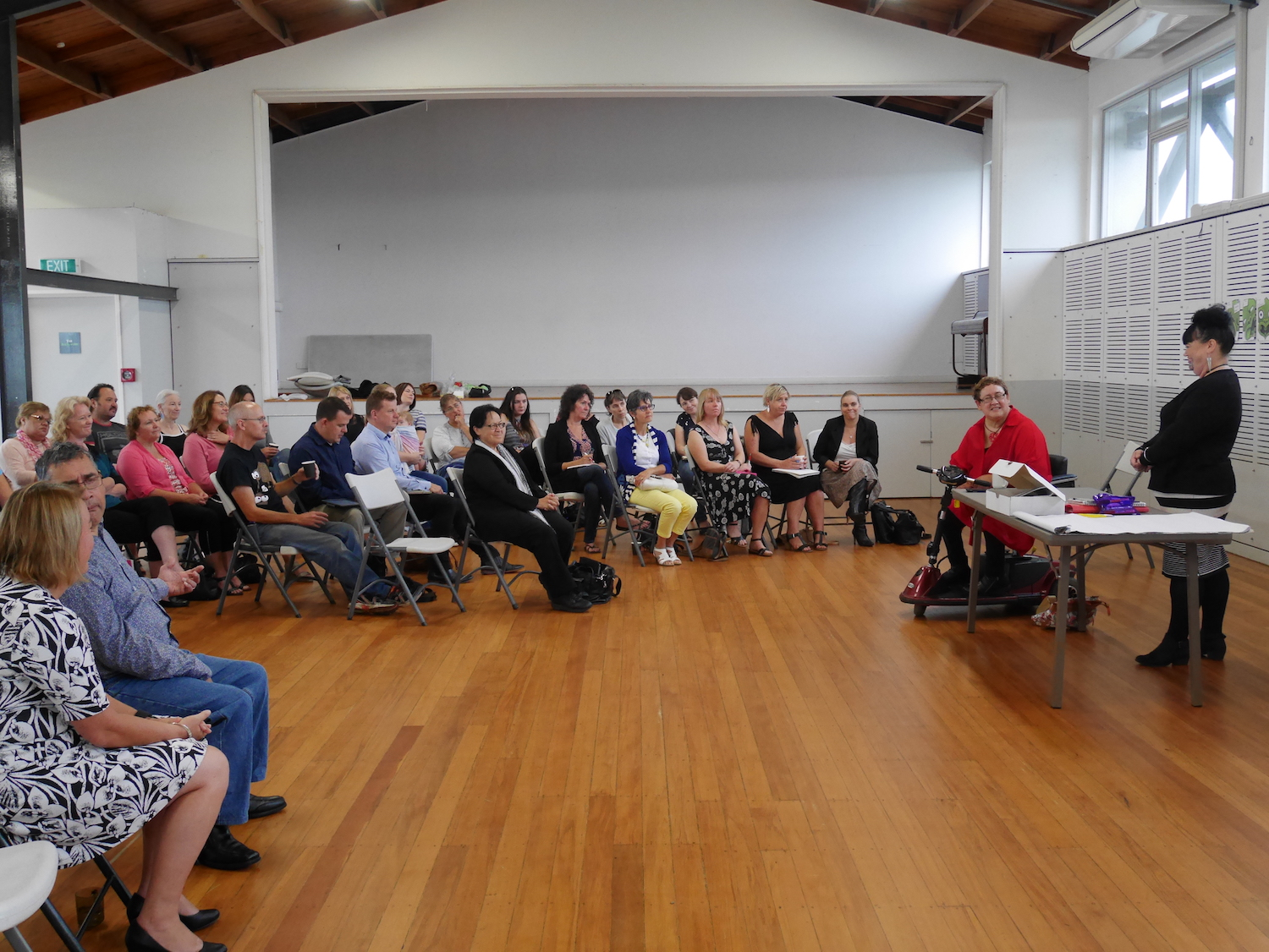 More than 40 people attended the morning hui and the evening hui was also well-attended.