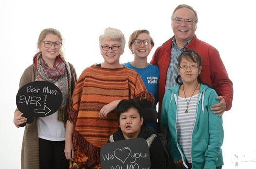The whole Carpenter whānau. Taken recently on Mother's Day.